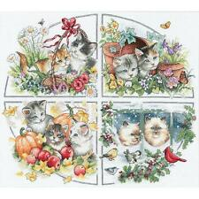 Counted Cross Stitch Kit FOUR SEASON KITTENS Dimensions Gold Collection