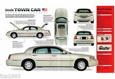 1998/1999 Lincoln TOWN CAR SPEC SHEET/Brochure: CARTIER edition