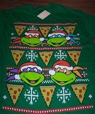 TEENAGE MUTANT NINJA TURTLES CHRISTMAS SWEATER STYLE T-Shirt MEDIUM NEW w/ TAG