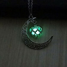 1pc Retro Silver Locket Pendant Fantasy Fairy Glow In The Dark Luminous Necklace