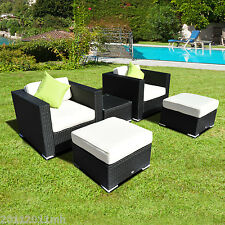 Outsunny 5 PC Rattan Patio Sofa Set Furniture Sectional Garden Wicker Outdoor