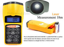 New Meter/Feet Measuring Tool Laser Digital Ultrasonic Distance LCD - FreeUKPost