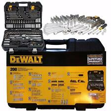NEW DEWALT MECHANIC'S TOOLSET 200 Piece DWMT75000 Sockets, Wrenches + Bit Driver