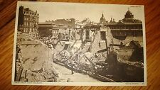 """LONDON UNDER FIRE  POSTCARD  WWII BLITZ DAMAGE """"VIEW FROM HIGH HOLBORN"""" 1940s."""