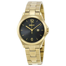 DKNY Parsons Black Dial Gold-tone Unisex Watch NY2366