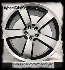 "20"" black machined Dodge Charger SRT OE replica wheels Magnum Challenger 5x115"