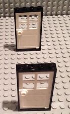Lego Lot Of 2 Doors / White Door / Black Frame / Build A House / City / Home