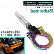 FOR 2003 UP MAZDA 3 HATCHBACK ONLY FLIP-UP STYLE JDM ALUMINUM TOW HOOK NEOCHROME
