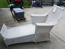 ANTIQUE...WICKER CHAISE LOUNGE...CIRCA 1880