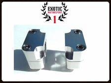 """Universal Handelbar Risers for Honda Yamaha Suzuki Kawasaki 28mm or 1,1/8"""" Bars"""