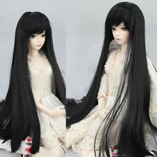 "Hot New BJD Doll Hair 8-9"" 1/3 SD DZ DOD Long Straight Hair Cool Black Toy Wig"