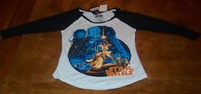WOMEN'S TEEN VINTAGE STYLE STAR WARS A NEW HOPE T-shirt XS NEW w/ TAG