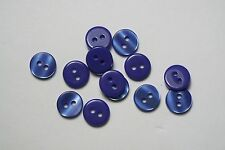 10pc 10mm Ultra Violet Royal Blue Cardigan Trouser Shirt Kids Baby Button 0537