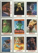 "1988 Fright Flicks ""Complete Set"" of 90 Cards-11 Stickers & 4 Wrappers BOX FRESH"