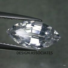 NATURAL WHITE SAPPHIRE 6x3 MM MARQUISE CUT DIAMOND COLOR