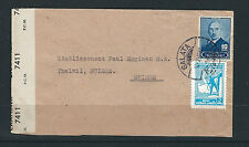 TURKEY 1945 CENSOR cover GALATA to SWITZERLAND