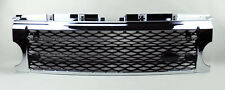 LR3 Discovery 3 05-09 Chrome Black Honeycomb Mesh Front Bumper Hood Grill