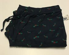 Old Navy Blue Pajama Bottoms Men Size Large PJ Lounge Pants Holiday