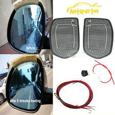 12V Car Auto Side Mirror Glass XL Heated Pad Defogger Heater Mat Quick Warm Kit