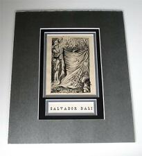 Salvador Dali vintage 69 years old art 11x14 new silver custom matting