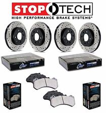 NEW BMW 323 325 E46 Front and Rear StopTech Drilled Brake Rotors Street Pads Kit
