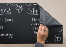 45 x 200cm VINYL BLACKBOARD 5 CHALKS STICKER REMOVABLE CHALKBOARD SELF ADHESIVE