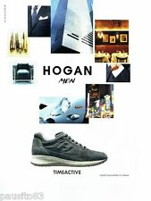 PUBLICITE ADVERTISING 116  2011  Hogan Men  baskets  Timeactive