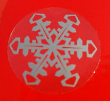 Silver Snowflake clear background Stickers Christmas seasonal decoration (055)