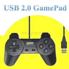 USB 2.0 GAMEPAD SHOCK JOYPAD JOYSTICK CONTROLLER FOR PC COMPUTER BLACK