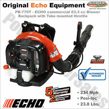 PB-770T - ECHO Backpack Blower - Commercial Grade 63.3 cc, Gas, 756 CFM, 234 MPH