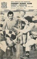 Cardiff v Aberavon - WRU Cup 31 Jan 1976 RUGBY PROGRAMME