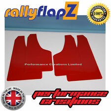 Mud Flaps to fit FORD FIESTA MK7 ZETEC S (2008-2012) RallyflapZ Red 4mm PVC