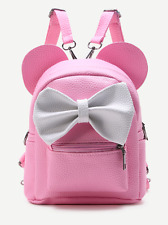 Pink Mickey Mouse Minnie Mouse Contrast Oversized Bow Tie Small Backpack