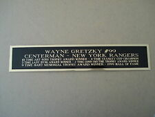 Wayne Gretzky Rangers Nameplate For A Hockey Jersey Display Case 1.5 X 8