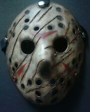Friday The 13th Freddy vs Jason Halloween Mask Battle Damaged Voorhees Horror