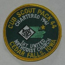 Winnebago Council (IA) Cub Scout Pack 44 Cedar Falls Iowa Pocket Patch  BSA