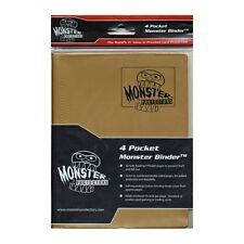 MATTE GOLD YUGIOH/MTG/POKEMON Monster Binder 4-POCKET card Protector BRAND NEW!