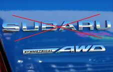 "NEW Genuine OEM Subaru Rear Badge  ""Symmetrical AWD"" 2010-2011 Impreza WRX STi"