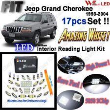 17 Bulbs Super White LED Interior Light Kit For Jeep Grand Cherokee WJ 1998-2004