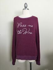 NWT AUTHENTIC WILDFOX COUTURE PASS ME THE WINE BAGGY BEACH JUMPER WINE S
