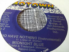 Midnight Blue 45 I Who Have Nothing Motown 1506 Modern Soul Funk VG++