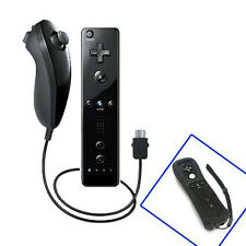 Remote And Nunchuck Controller Set For Nintendo Wii Game + Case Skin Black
