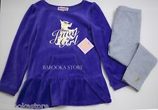 JUICY COUTURE GIRLS 2 PIECE VELOUR TUNIC TOP AND LEGGINGS SET TODDLER GIRL 4T