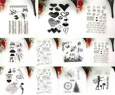 Peacock Transparent Clear Rubber Stamp Diary Scrapbooking Decor DIY Craft