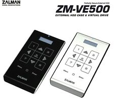 "Zalman ZM-VE500 Virtual Drive, 2.5"" Hard Drive Enclosure, USB 3.0, Silver S-ATA3"