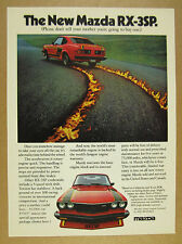 1977 Mazda RX-3 SP rx-3sp red car flaming track photo vintage print Ad