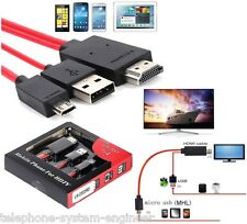 Micro USB MHL a HDMI Cable Adaptador De Tv Plomo Para Samsung Galaxy S3 S4 S5 2 3 Note