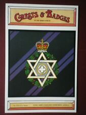 POSTCARD 157A ROYAL ARMY CHAPLAINS (JEWISH) CRESTS & BADGES OF THE ARMED FORCES