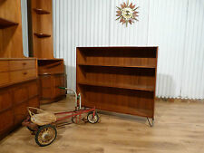 Fabulous mid century teak bookcase Kofod Larsen Danish for G plan on hairpin leg