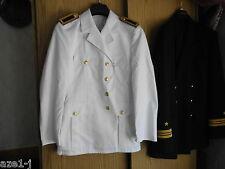 Taille M, 52 (pour 1,78 M) marine uniforme veste blanc épaule morceaux mardi gras ws1